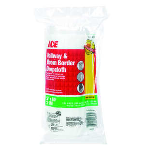 Ace  Heavy Weight  Plastic  Hallway and Room Border Drop Cloth  3 ft. W x 60 ft. L