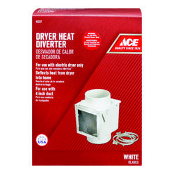 Ace 4 in. L x 4 in. Dia. White Plastic Heat Diverter