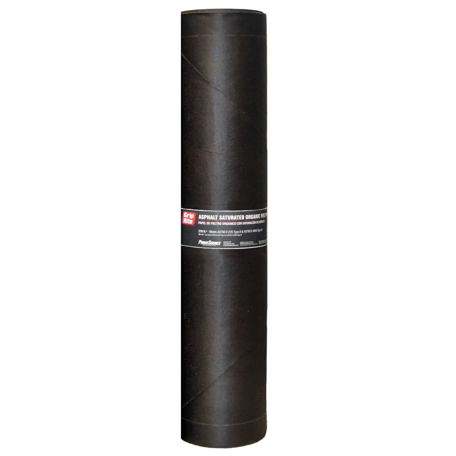 Grip Rite 3 Ft W X 72 Ft L Asphalt Smooth Saturated