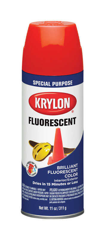 Krylon  Red Orange  Spray Paint  11 oz.