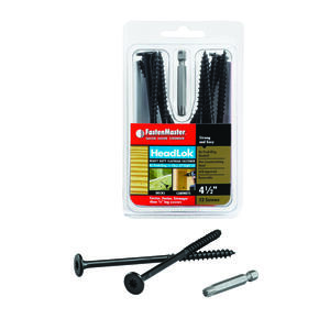 FastenMaster  HeadLok  No. 10   x 4.5 in. L Star  Epoxy  Wood Screws  12 pk
