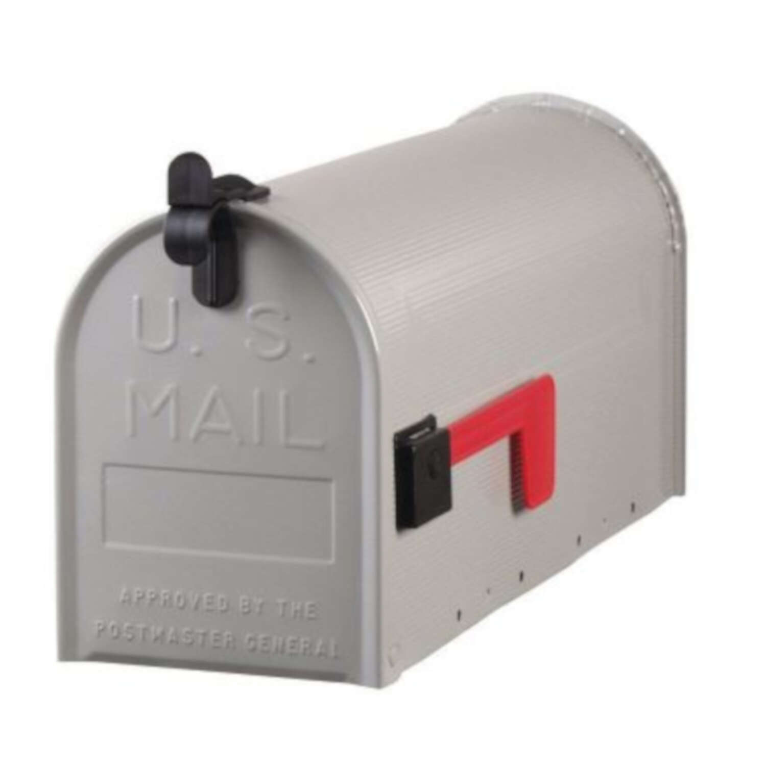 Gibraltar Mailboxes  Grayson  Galvanized Steel  Post Mounted  Gray  Mailbox  9-1/2 in. H x 6-3/4 in.