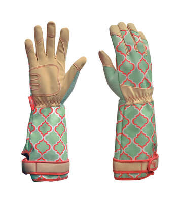 Digz  Women's  Indoor/Outdoor  Acrylic  Rose Picker  Gardening Gloves  Green  L  1 pk
