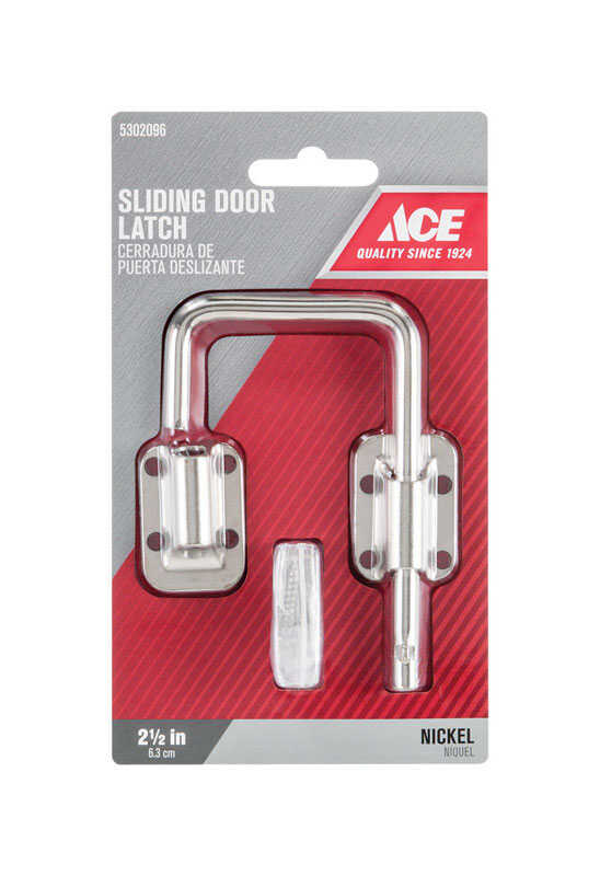 Ace  Nickel  Indoor  Sliding Door Latch