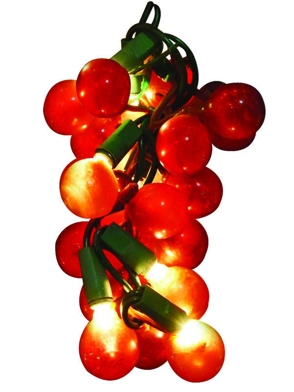 Sienna  Red Grape Cluster Light Set  72 in.