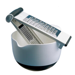 OXO  Good Grips  3-1/2 in. W x 9 in. L Silver/White/Black  Stainless Steel  Grater