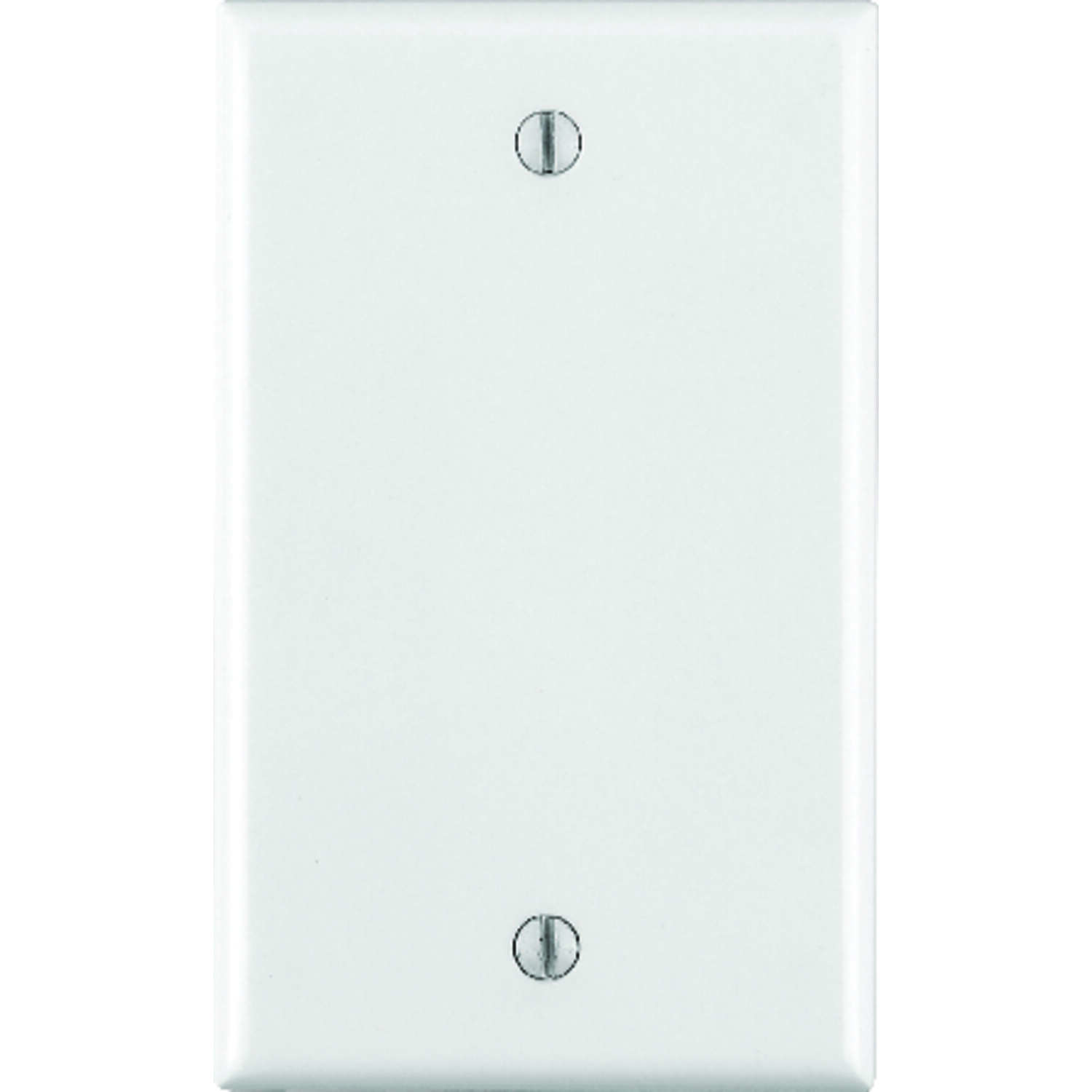 Leviton  White  1 gang Thermoset Plastic  Blank  Wall Plate  1 pk