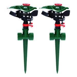 Ace  Plastic  Spike Base  Impulse Sprinkler  2 pk