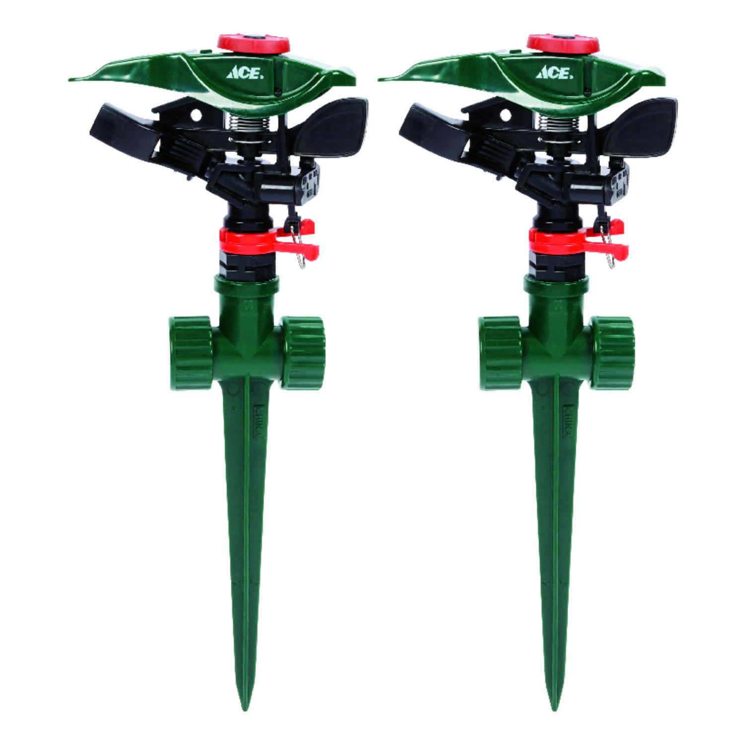 Ace  Plastic  Impulse Sprinkler  Spike Base