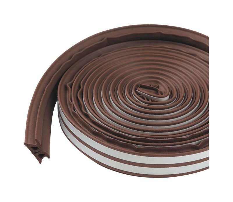 M-D Building Products  Brown  Rubber  Weather Stripping  For Window 17 ft. L x 3/8 in.