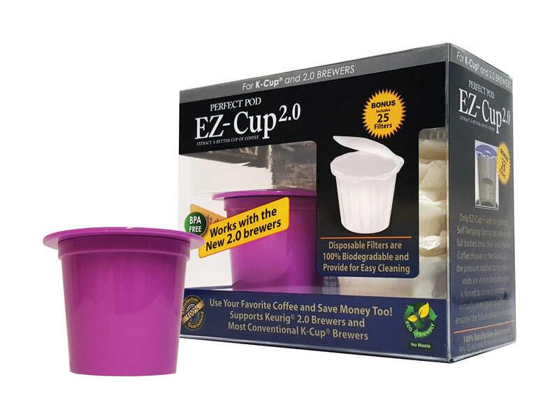 Perfect Pod  EZ-Cup 2.0  Plastic  Refillable Coffee Capsules  Purple