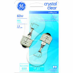 GE Lighting  60 watts A15  Incandescent Bulb  650 lumens White  A-Line  2 pk