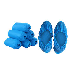 Synguard  Polyethylene  Disposable  Shoe Cover  Blue  One Size Fits Most  10 pair