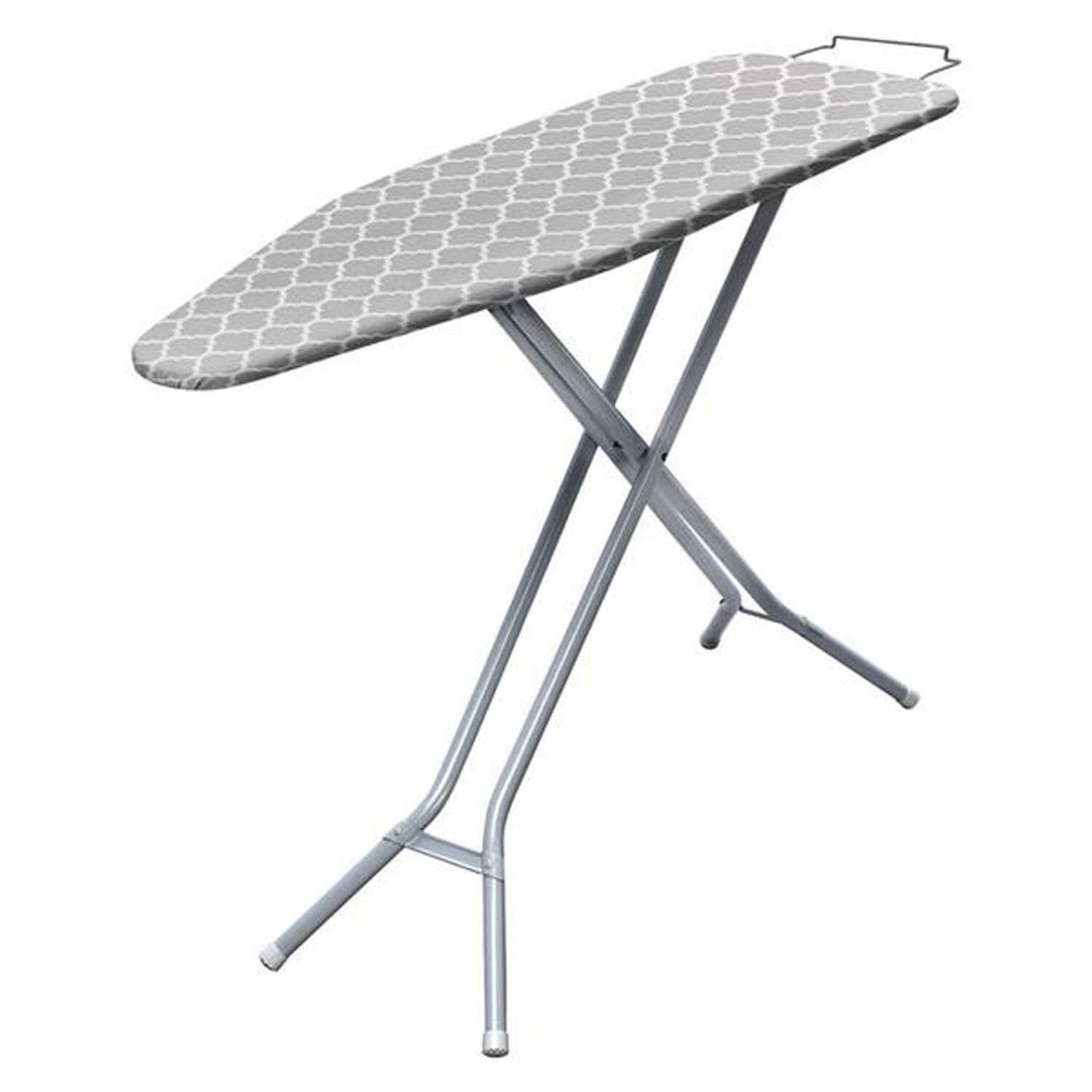 Homz  36 in. H Ironing Board with Iron Rest  Pad Included Steel