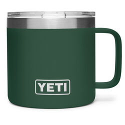 YETI Rambler 14 oz. Northwoods Green BPA Free Mug with Lid
