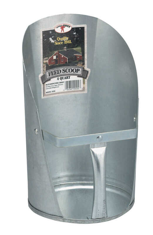 Little Giant  Steel  Silver  4  Feed Scoop