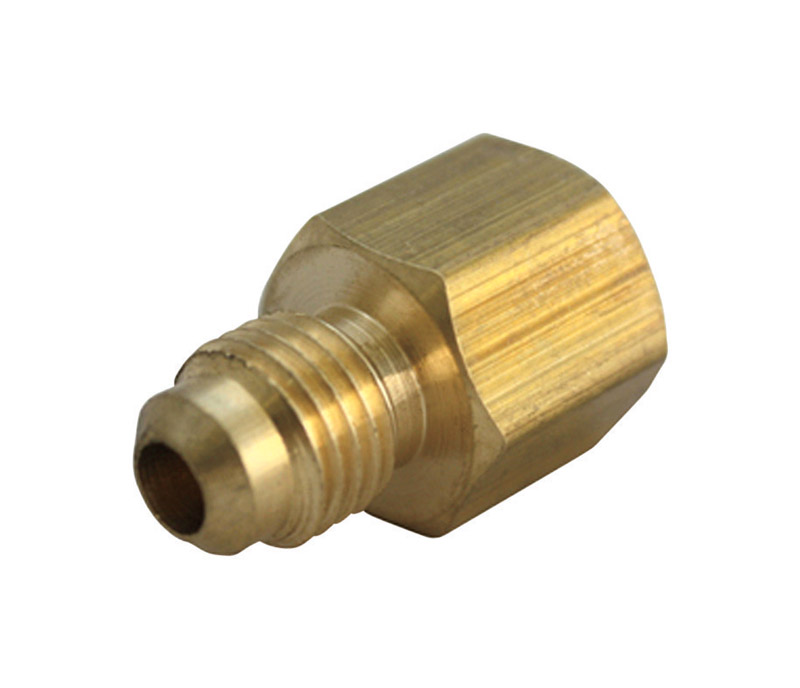 JMF  1/4 in. Flare   x 1/4 in. Dia. FPT  Brass  Flare Adapter