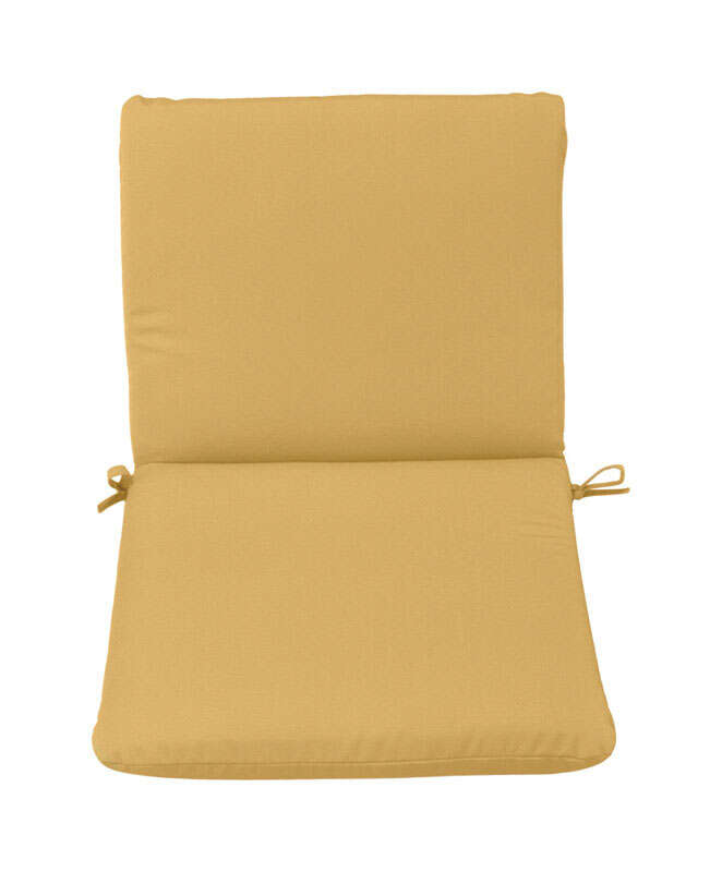 Casual Cushion  Polyester  Tan  1.5 in. 19 in. 36 in. Seating Cushion