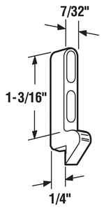 Prime-Line  Zinc-Plated  Cast Metal  Latch Strike  1 pk