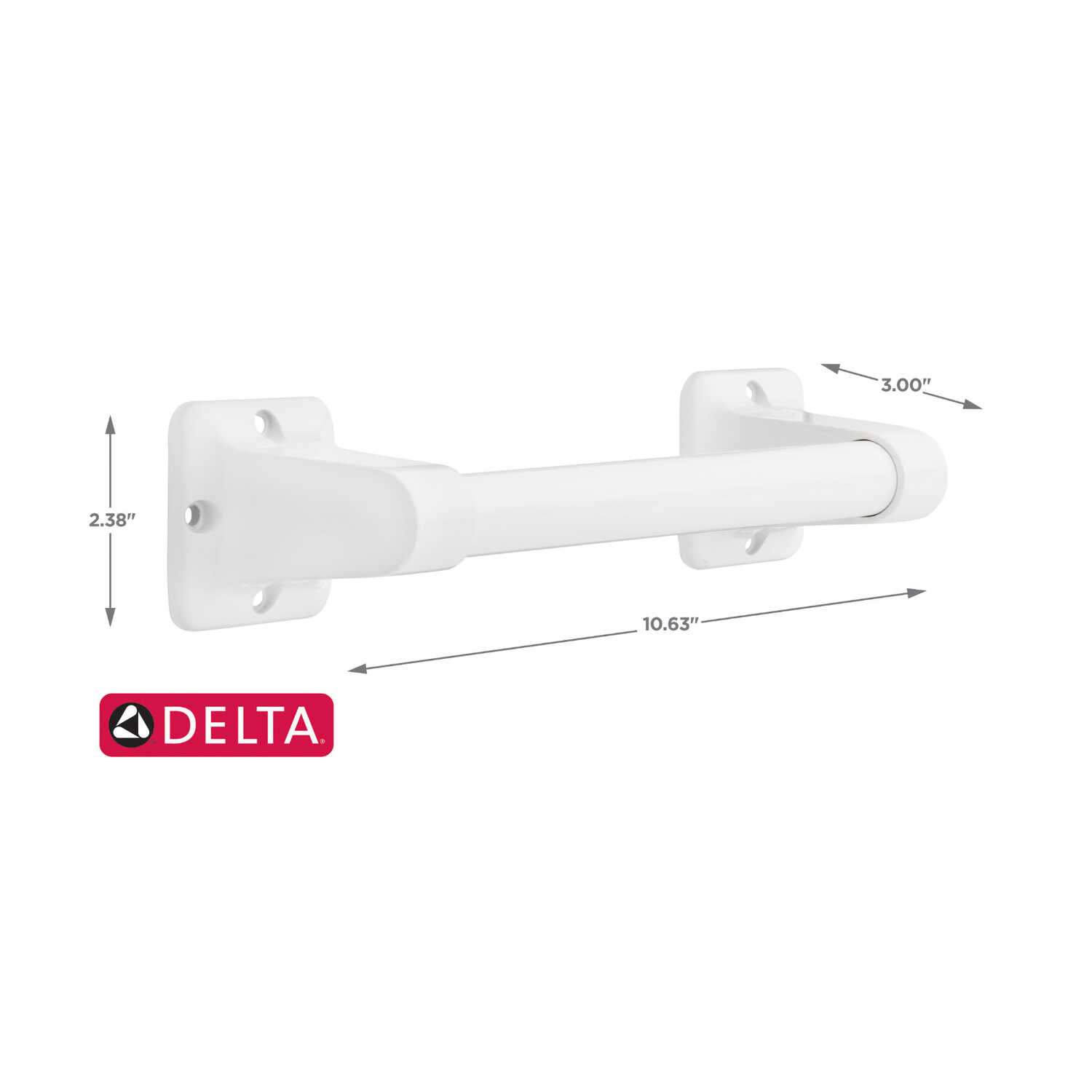 Delta  9 in. L Grab Bar
