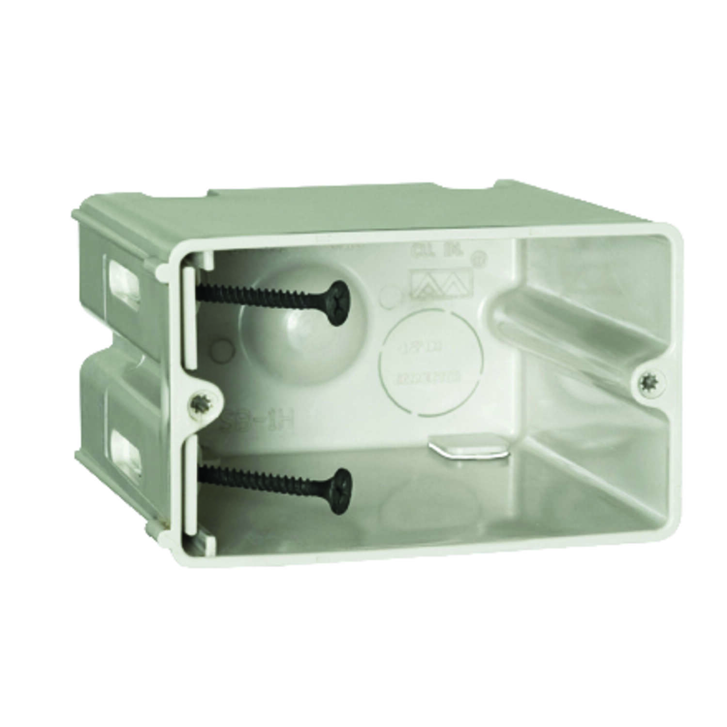 Allied Moulded  SliderBox  2-1/4 in. Rectangle  Polyvinyl Chloride  1 gang Outlet Box  Beige