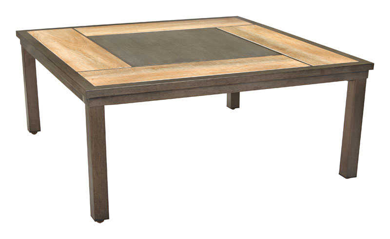 Living Accents  Brown  Sorento  Square  Coffee Table