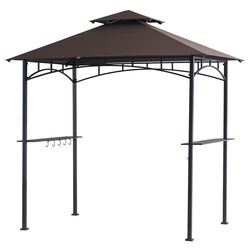 Living Accents  Polyester  Grill Gazebo  8 ft. H x 5 ft. W