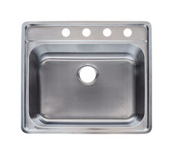 Franke  Stainless Steel  Top Mount  25.5 in. W x 22.5 in. L Single Bowl  Kitchen Sink