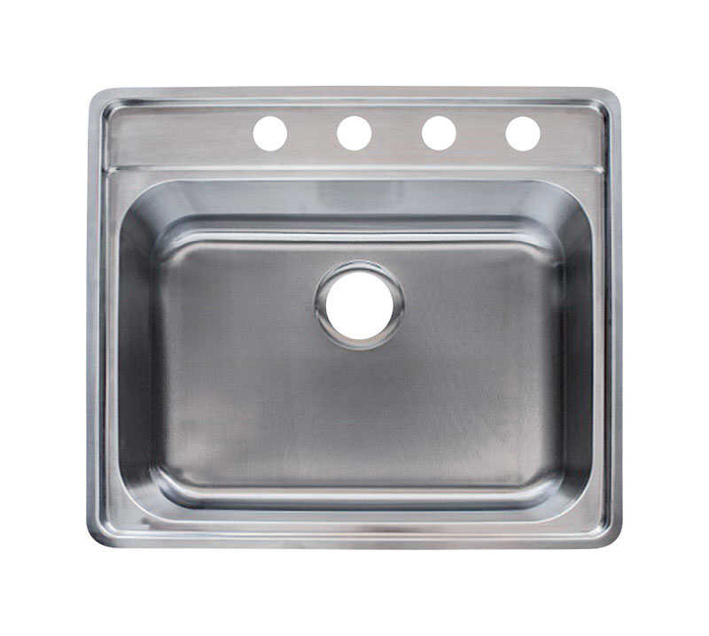 Franke  Stainless Steel  Top Mount  25-1/2 in. W x 22-1/2 in. L Kitchen Sink