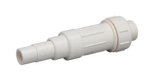 Homewerks  Schedule 40  1-1/2 in. Slip   x 1-1/2 in. Dia. Slip  PVC  Expansion Coupling
