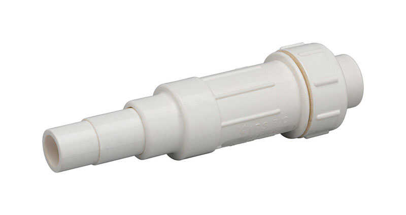 Homewerks  Schedule 40  1-1/2 in. Spigot   x 1-1/2 in. Dia. Slip  PVC  Expansion Coupling