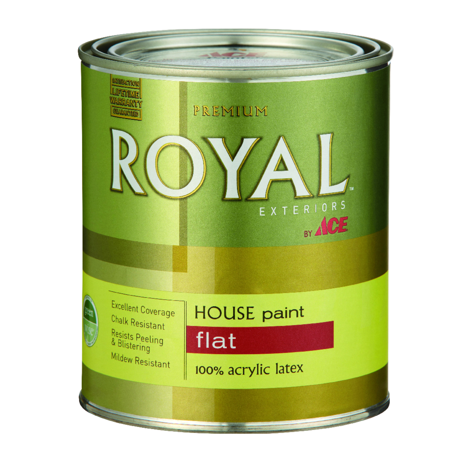 Ace  Royal  Flat  White  Acrylic Latex  House Paint & Primer  1 qt.