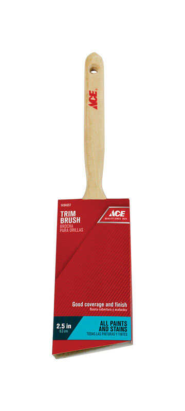 Ace  2-1/2 in. W Angle  Medium Stiff  Trim Paint Brush  Polyester