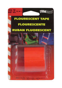 Trim Brite  1-1/2 in. W x 8 in. L Reflective Tape  Fluorescent Red