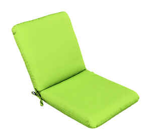 Casual Cushion  Gray/Lime  Polyester  4 in. H x 22 in. W x 44 in. L Seating Cushion
