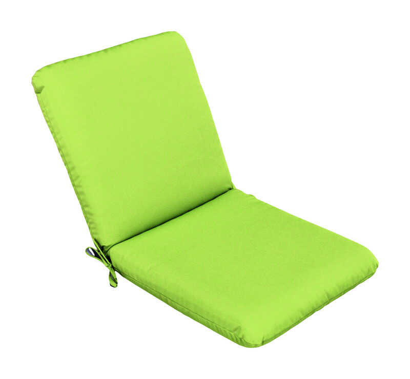 Casual Cushion  Gray/Lime  Polyester  Seating Cushion  4 in. H x 22 in. W x 44 in. L