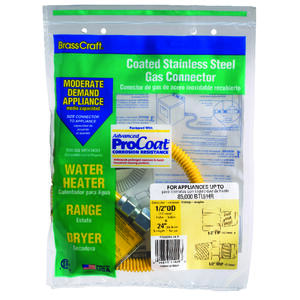 Brasscraft  ProCoat  1/2 in. 1/2 in. Dia. x 24 in. L Stainless Steel  Connector