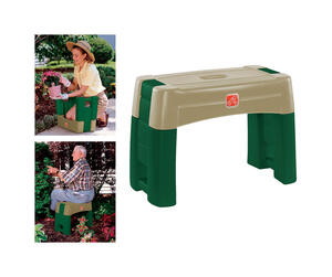 Step 2  16.25 in. L Plastic  Carry Along  Garden Kneeler  Green/Tan