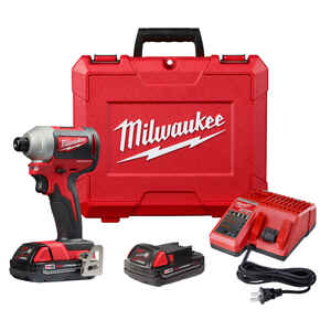 Milwaukee  M18  18 volt 1/4 in. Hex  Cordless  Brushless Compact Impact Driver  Kit 1600 in-lb