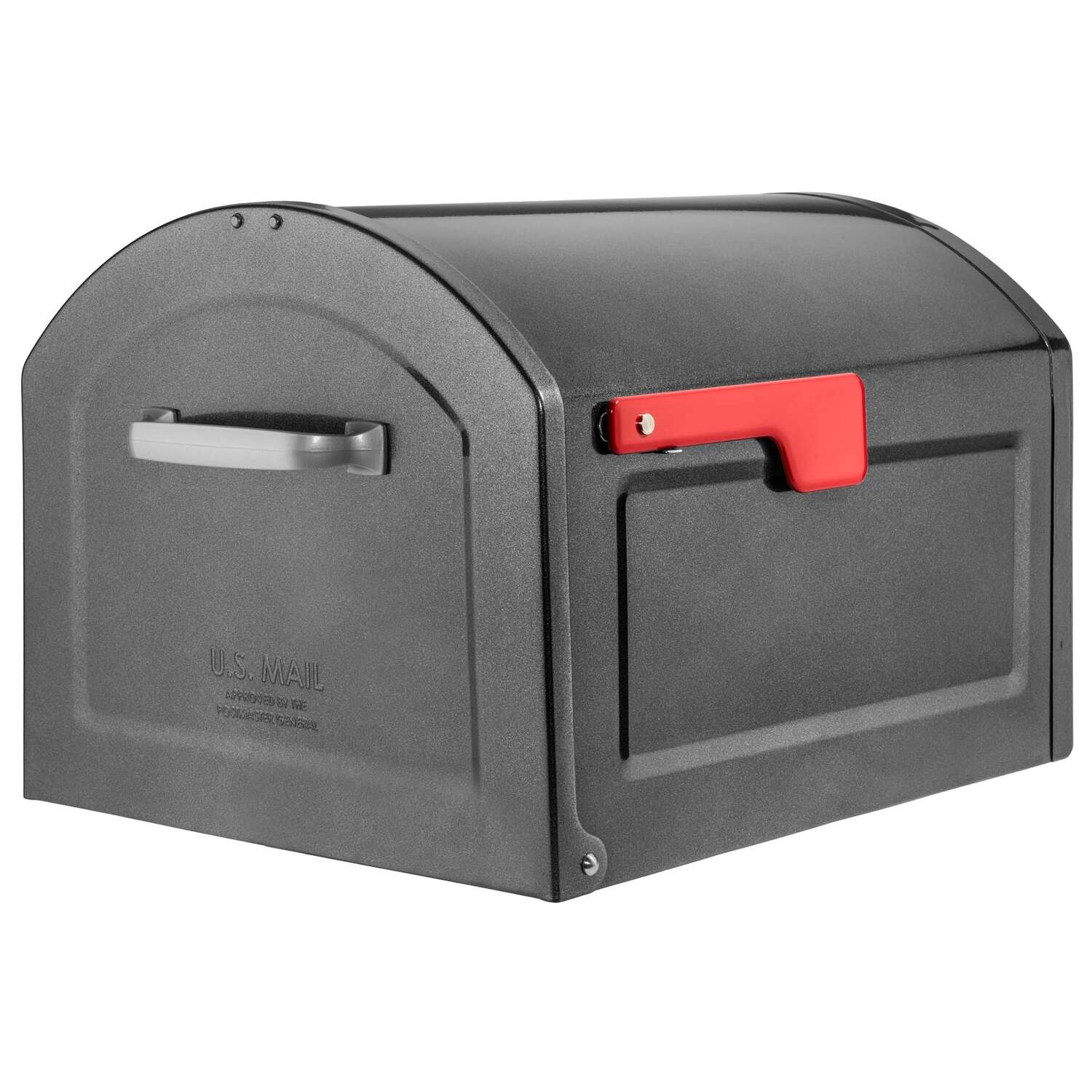 Architectural Mailboxes  Centennial  Galvanized Steel  Post Mount  Pewter  Mailbox