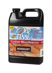 One TIME  Semi-Transparent  Mahogany  Wood Preservative  1 gal.