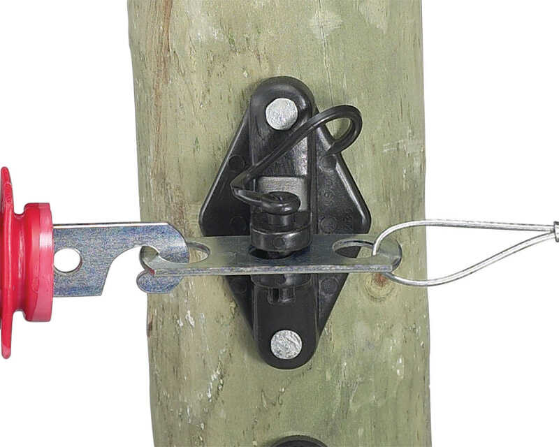 Dare Products  Electric-Powered  Gate Handle Anchor  Black