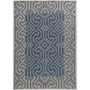 Linon Home Decor  6.5 ft. L x 9.5 ft. W Blue  Outdoor Rug