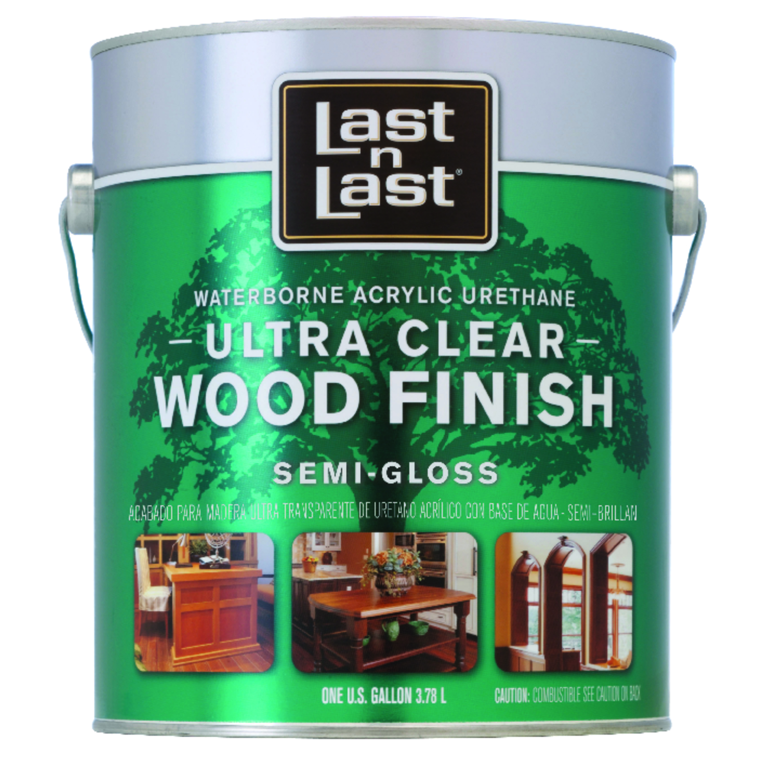Last N Last Waterborne Wood Finish Acrylic Urethane  Interior Semi-Gloss Clear   1 Gal.  275 VOC g/l