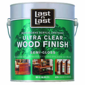 Last N Last  Waterborne Wood Finish  Semi-Gloss  Clear  Polycrylic  1 gal.