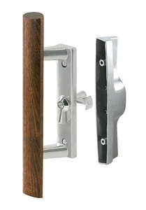 Prime-Line  Steel  Wood Tone  Outdoor  Sliding Glass Door Security Latch