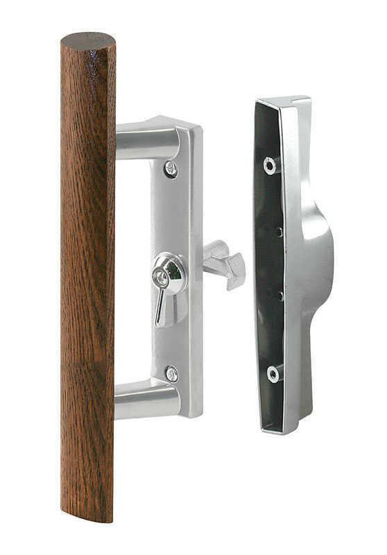 Prime-Line Wood Tone Steel Outdoor Sliding Glass Door ...
