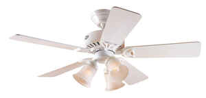 Hunter Fan  Beacon Hill  42 in. 5 blade Indoor  Snow White  Ceiling Fan