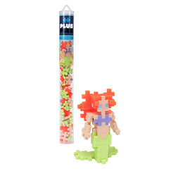 Plus-Plus Mermaid Building Blocks Polyethylene Multicolored 70 pc.