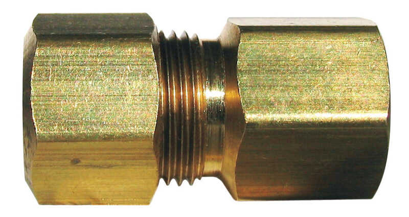 JMF  3/8 in. FPT  Dia. x 1/2 in. FPT  Dia. Brass  Compression Connector